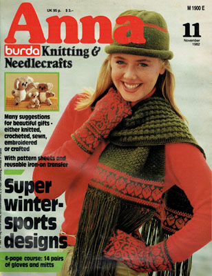 253c1b8ea ANNA BURDA KNITTING & NEEDLECRAFTS Magazine Review