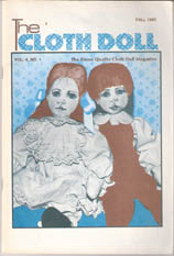 cloth art doll patterns~how to magazine THE CLOTH DOLL Summer 1995 Vol 10 No 4