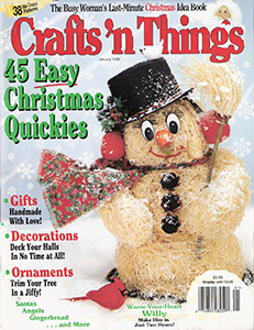 Chris Moose Vintage Doll Sewing Pattern 1991 1990s Winter Christmas 9 15 Clothespin Doll Ornament Decorations